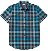 Calvin Klein Shadow Plaid Short-Sleeve Woven Shirt