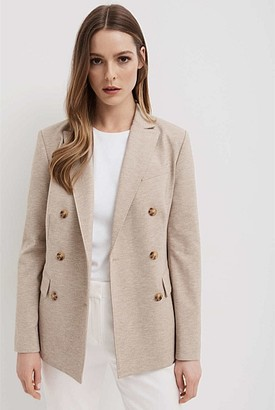 Witchery Double Breasted Jersey Blazer