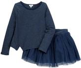 Splendid Stripe Top & Tutu Skirt 2-Piece Set (Little Girls)