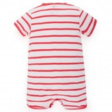 Petit Bateau Coral and white stripe shortall