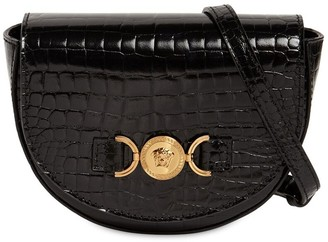 Versace Croc Embossed Patent Leather Bag
