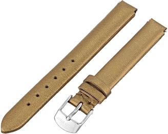 Philip Stein Teslar 4-CIMDG 12mm Leather Calfskin Gold Watch Strap