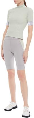 adidas by Stella McCartney Color-block Stretch Shorts
