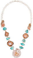Melissa Joy Manning 14-karat Gold, Agate And Turquoise Necklace