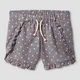 Cat & Jack Girls' Dot Print Ruffle Knit Short Cat & Jack - Heather Gray