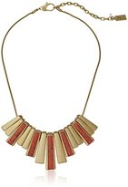 "Kenneth Cole New York Coral Canyon Semiprecious Coral Stone Geometric Stick Necklace, 17"" + 3.75"" Extender"