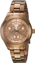 Invicta Women's 'Angel' Quartz Stainless Steel Casual Watch, Color:Rose Gold-Toned (Model: 21695)