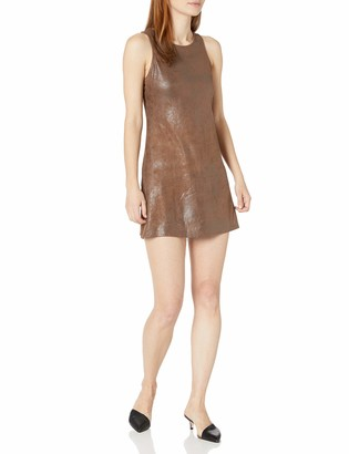 Angie Women's Faux Leather Tank Dress
