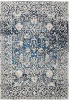 Panache Rizzy Home Transitional Distressed Ornate I Geometric Rug