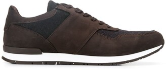 Hackett textured lace up sneakers