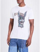 Mcq Alexander Mcqueen Horror Rabbit Cotton-jersey T-shirt