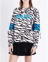 Kenzo Tiger-stripe jacquard sweatshirt