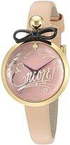 Kate Spade Women's KSW1176 Parfum Bottle Analog Display Quartz Beige Watch