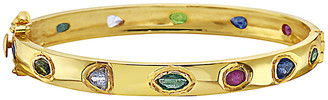 Forever Creations Usa Inc. Forever Creations Gold Over Silver 6.50 Ct. Tw. Gemstone Bangle