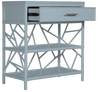David Francis Furniture End Table with Storage Color: Light Blue