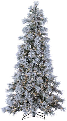 Sterling Tree Company 9Ft Pre-Lit Lightly Flocked Snowbell Pine