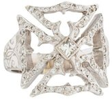 Loree Rodkin 18K Diamond Maltese Cross Ring