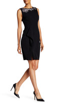 Anne Klein Crepe Embellished Sheath Dress