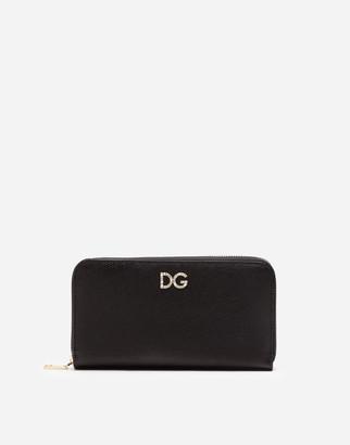 Dolce & Gabbana Dauphine Calfskin Zip Around Wallet
