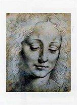 Leonardo 1art1 Posters Da Vinci Poster Art Print - Testa Femminile (20 x 14 inches)