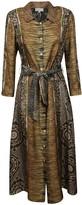 Pierre Louis Mascia Pierre-Louis Mascia All-over Print Belted Shirt Dress