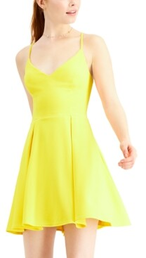 B. Darlin Juniors' V-Neck A-Line Dress