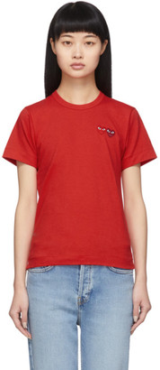 Comme des Garcons Red Twin Heart T-Shirt