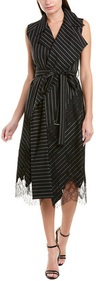 Jason Wu Collection Belted Silk-Lined Wool-Blend Wrap Dress