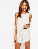 Asos Lace Trim Tank & Short Pajama Set
