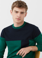 MANGO MAN Color Block Sweater
