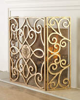 Horchow Patrice Medallion Fireplace Screen