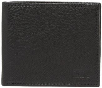 Tallia Embossed Logo Leather Bifold Wallet