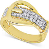Diamond Buckle Ring (1/4 ct. t.w.)