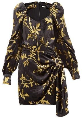 Dodo Bar Or Mona Fil-coupe Velvet Mini Dress - Womens - Black