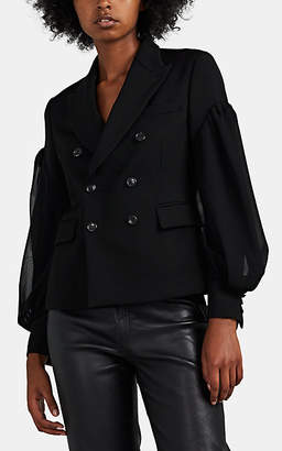 Comme des Garcons Women's Wool Layered-Sleeve Blazer - Black