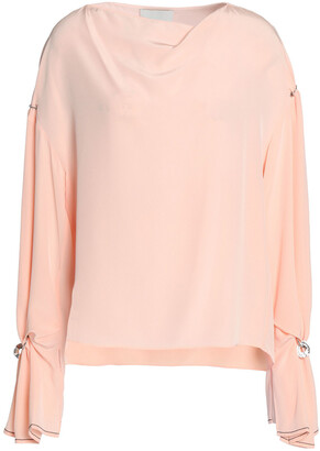 3.1 Phillip Lim Embellished Draped Silk Crepe De Chine Blouse