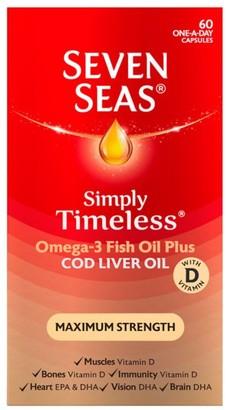 Seven Seas Cod Liver Oil Maximum Strength 60 Capsules