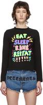 Vetements Black Eat, Sleep, Rave, Repeat Long Sleeve T-Shirt