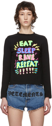 Vetements Black Eat, Sleep, Rave, Repeat Long Sleeve T-Shirt