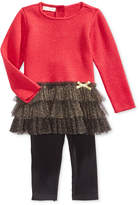 First Impressions 2-Pc. Peplum Sweater Tunic & Leggings Set, Baby Girls, Created for Macy's