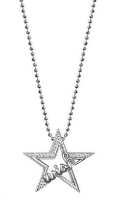 Alex Woo 14K White Gold & Diamond Wish Star Pendant Necklace - 0.05 CTW