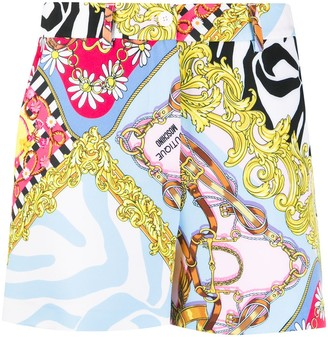 Boutique Moschino Brocade Print Shorts