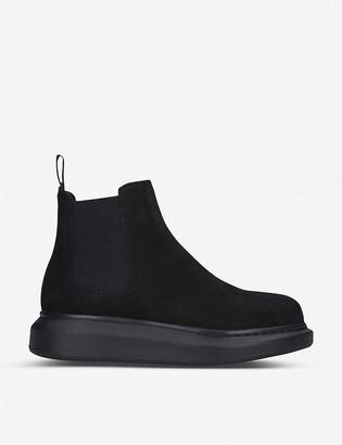 Alexander McQueen Hybrid suede Chelsea boots