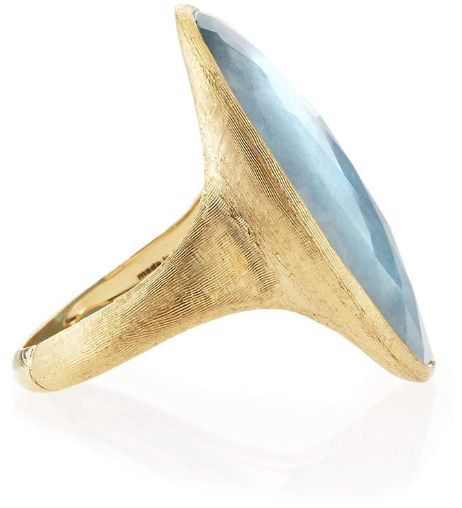 Marco Bicego 18k Gold Oval Aquamarine Ring, Size 7
