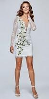 Tarik Ediz Prom Scalloped Lace Daisy Vine Fitted Cocktail Dress