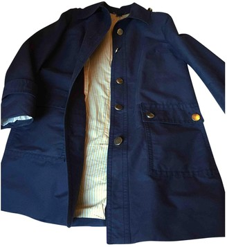 Marc by Marc Jacobs Blue Cotton Trench Coat for Women