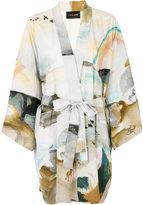 Stine Goya watercolour print kimono jacket