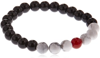 Stacy Adams Men's 49153 8mm Onyx w/Red and Natural Howlite Bracelet Accessory