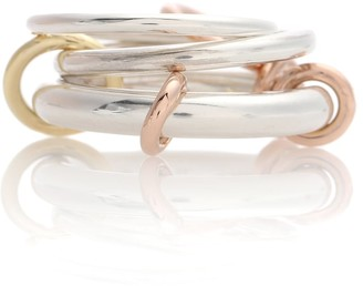 Spinelli Kilcollin Orion sterling silver and 18k gold linked rings
