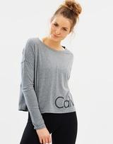 Calvin Klein Performance Crop Long Sleeve Logo Tee